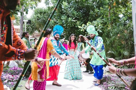 Sagar and Subiya | Destination wedding in Bali | The bride dancing to the tunes of Gidda.