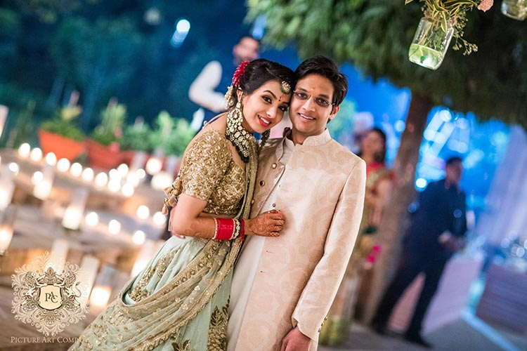 Nayana and Jai | Amazing Delhi wedding | Proposal story | Proposal ideas | The bride and groom smiling and posing together.