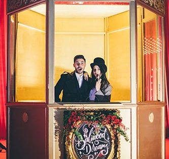 Sagar and Subiya | Destination wedding in Bali | The bride and groom dressed as their favorite bollywood stars posing and having fun.