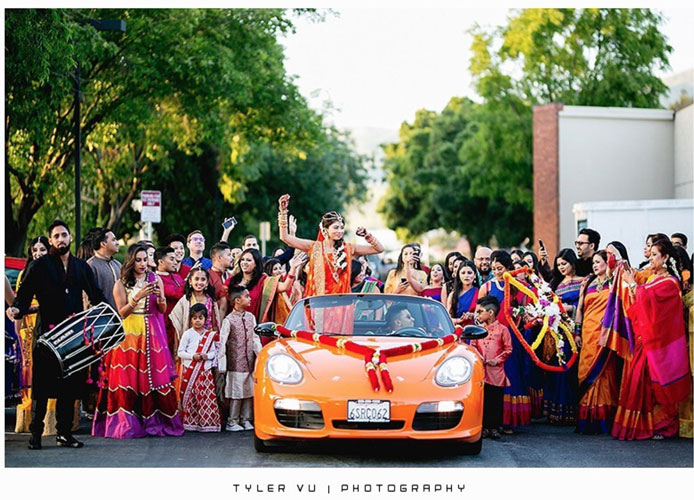 Bride entering on car   Trending AF in 2017 – Some of the NEW WEDDING TRENDS you need to know!