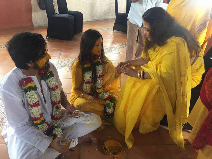 Riya Sen's Wedding | Haldi photos from this Bengali wedding | combined haldi for the bride and groom
