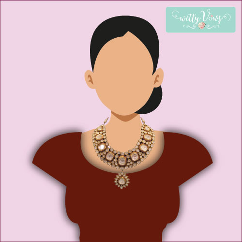 Indian Bridal Fashion | Bridal Necklace | round necklace