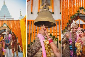 nimisha and Hemant | stunning temple wedding in Delhi NCR