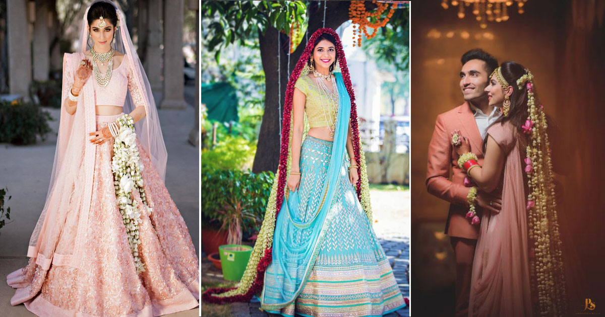 new in Indian bridal fashion | ways to wear flowers at your wedding to make a stunning mark in flower fashion