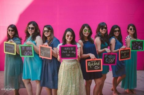 Shoot with props| Get clicked with your BFF– Bridesmaid photo shoot Ideas WE LOVED!