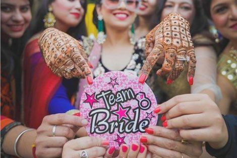 Perfect shot with team bride| Create memories with your BFF– Bridesmaids photoshoot Ideas WE LOVED!