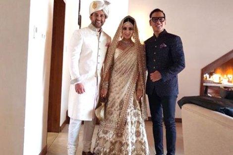 Aftab Shivdasani's Day wedding with a beach Mandap