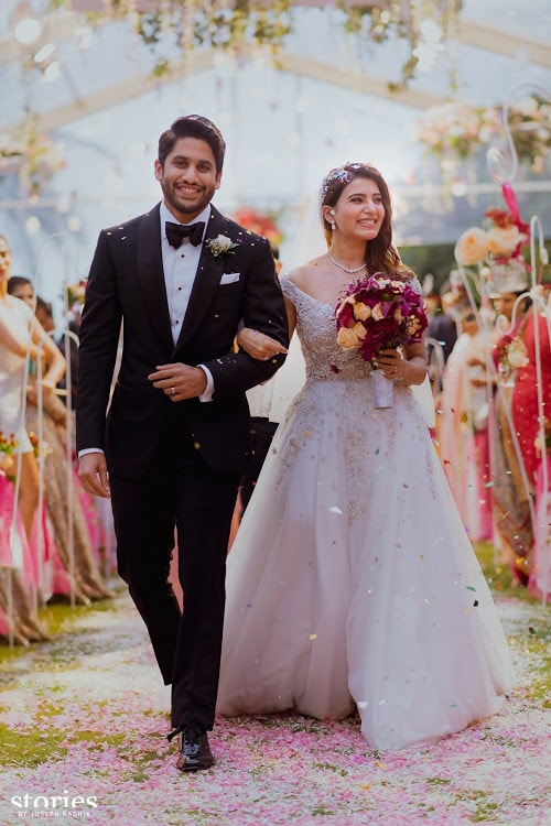 Confetti exit | #CHAYSAM wedding - A Movie worthy celebration of love – that WE LOVED!