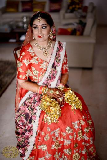 MUA Sakshi on her wedding | Bride with a budget - Affordable yet STUNNING bridal wear designers!