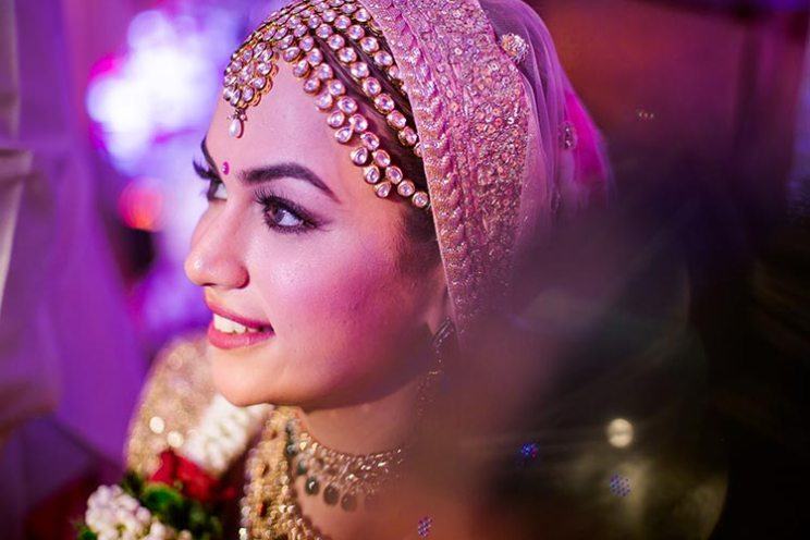 Mihir and Disha - Magical Mumbai wedding | Photo by - The Photo diary | Disha's 3 lien mathapatti