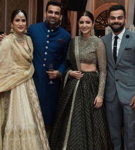 Zaheer & Sagarika with friends | #CelebrityWedding – Trends to steal from Zaheer Khan & Sagarika's wedding that's unreal!