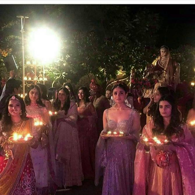 bridal entry of Kripa | Glamour, Girls and Goals – Trending & how #TheMehtaWedding in Jodhpur & its Bollywood Bridesmaid!