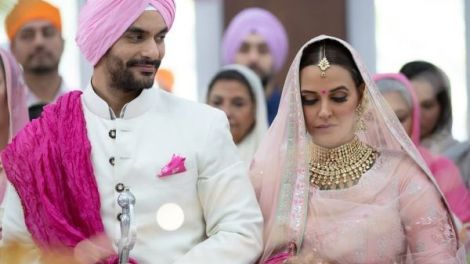 Neha Dhupia Wedding | Neha Dhupia And Angad Bedi at their Anandkaraj in Delhi