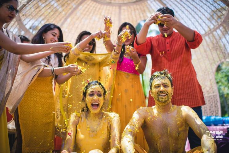 Couple haldi | 5 ways to make your haldi Happy & High - Swoon & Sight