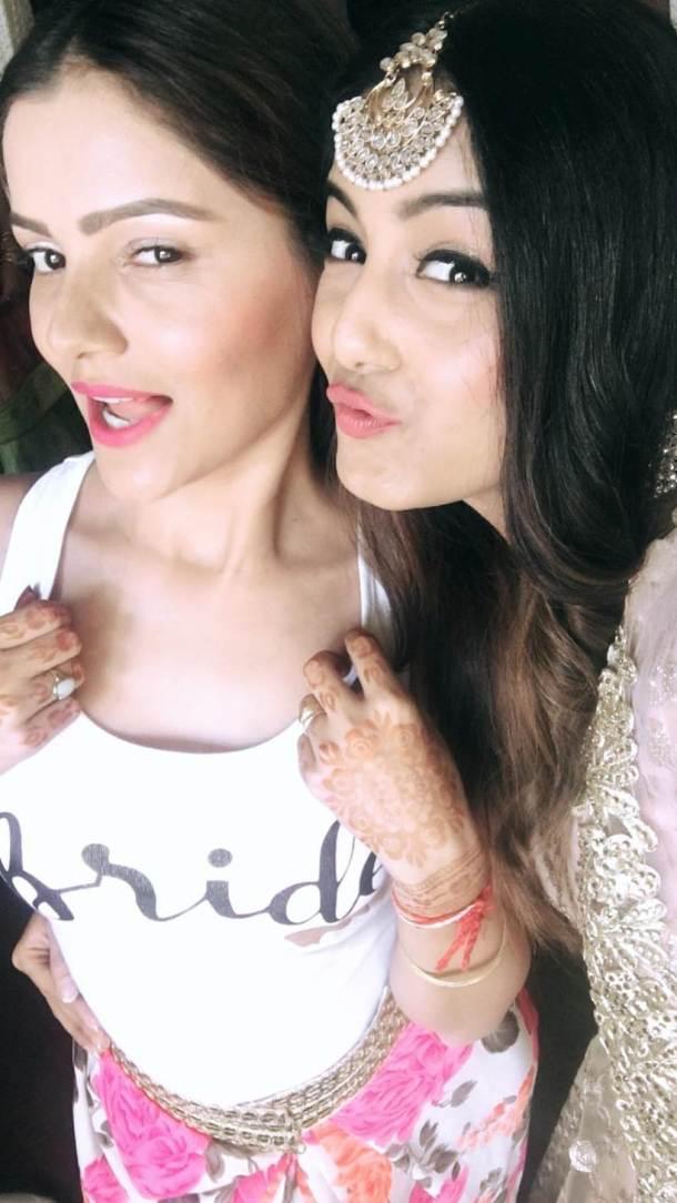Rubina in a super cute bridal t shit | Rubina dilaik and Abhinav Shukla wedding