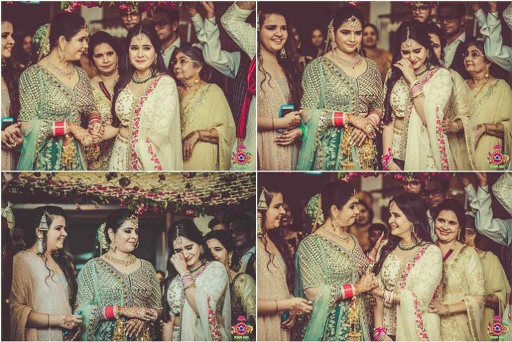 Sister of the bride | Indian bridesmaids | Shiv Shakti Sachdev | Indian weddings | Maid of Honour | Indian wedding Photography | Photos every bridesmaid needs | Candid pictures | Bridal entry ideas | Phoolon ki Chadar |