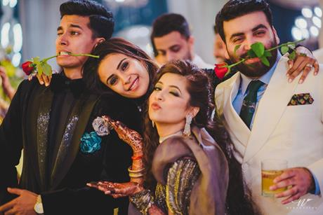 Abheshek & Smily | Chandigarh Weddings | Wedding reception | Groomsmen and bridesmaids | Candid pictures | REal Indian weddings |