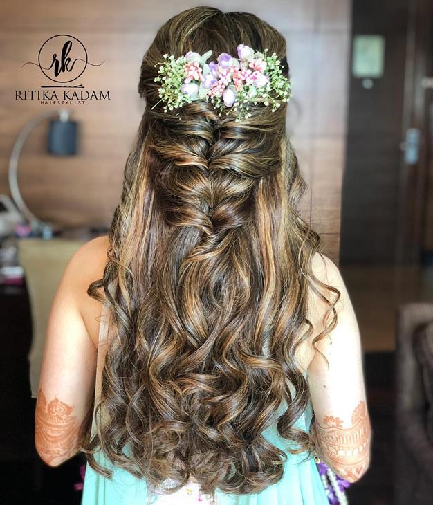 DIY Hairstyle | Diwali look inspiration | Flowers in hair | easy hairdos | Diwali ideas |