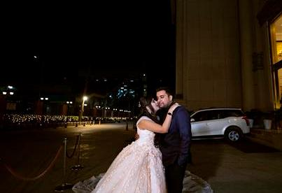 Noor and Akshay | Delhi Weddings | Indian brides | Engagement outfit ideas | Bridal Gowns | Gown with a trail | Gowns for brides | White gown | Real Brides | Just Engaged | couple portrait | Wedding Photography | Cinderella |