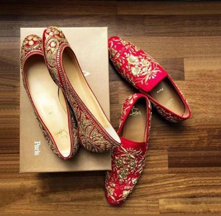 Personalised shoes | Customised wedding shoes | Sabyasachi Mukherjee | Christian Louboutin | Ranveer Singh and Deepika Padukone Wedding |