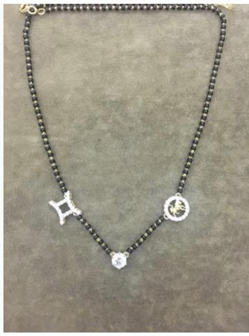 Sonam Kapoor Ahuja | Customised mangalsutra | Personalised jewelry | Zodiac charms | Diamond magalsutra design |
