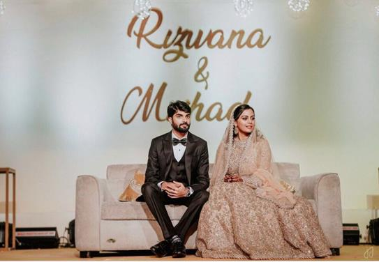 Rizwana and Mishad | Bride in Sabyasachi lehenga | Lehenga in Peach Lehenga | Real Indian Brides | Indian Couples | Indian Wedding Photography |