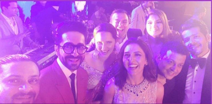 Neeti Mohan wedding | Neeti with Ayushmann khaurranna, Sania Mirza and friends