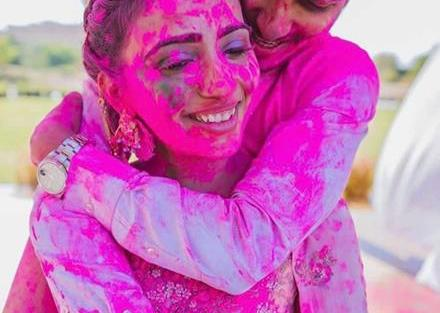 Holi Pictures | Post wedding Photo shoot | Couple Goals | Couple | Gulaal | Candid Photography | Holi Celebrations | Romantic | Newlyweds | First Holi