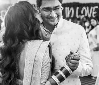Love and Other Bugs | Trishala | Tarun Tahiliani lehenga | Blush pink outfits | Diamond jewellery | Couple Portraits | Red Chooda | Bridal Look | Indian Wedding Photography | The Wedding Salad | Indian Wedding Photographer