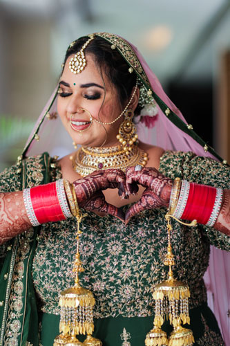 plus size bride Bridal Portrait | Chura | real brides | Delhi Weddings | Delhi Makeup Artist | Face stories by Leena Bhushan | Bridal jewellery |