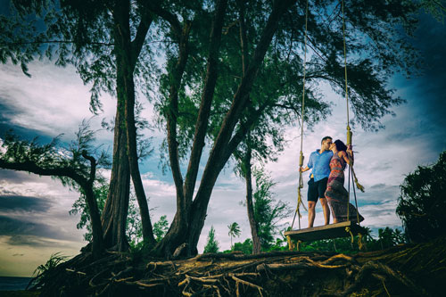 Pre Wedding Shoot in Phuket | Destination Weddings in Thailand | Prianka & Nico | Cross culture Wedding | Romantic | Pre wedding shoot inspiration | Swings | Beach Weddings |