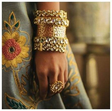 latest bangle designs | Bangles for Brides | Kundan | Diamonds | Stacked | Trending | Unique bridal jewels |