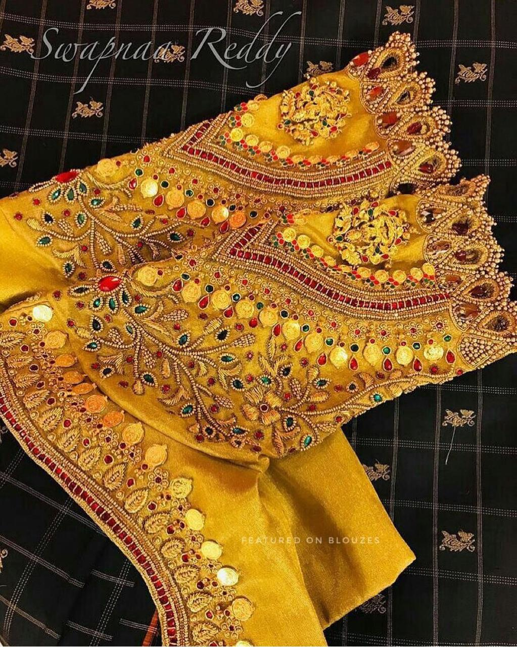 latest blouse style | blouse style | yellow embroidered blouse| yellow blouse | blouse sleeve | gota blouse | embroidered blouse