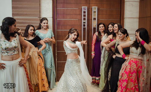 Bride and bridesmaids flashmob | Indian Television Actress | Indian Celebrity Engagement | Dancing bridal entry