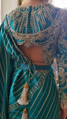 Stunning blouses   Blouse with embroidery   Blouse back designs for bride   Designer outfits   Indian Bridal fashion   Trousseau