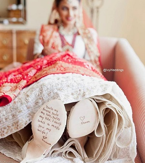 Love notes on footwear soles | Wedding trends | Bridal inspiration