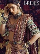 Kriti Sanon in Tarun Tahiliani   Heavy details on the sleeves   Indian bridal fashion   Desinger wear  