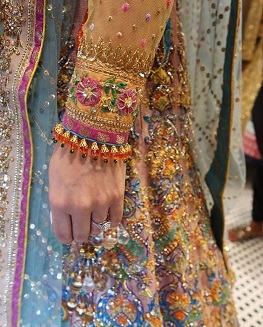 Sleeve destails | Outfits for indian brides | Bridal lehenga | trending new ideas | Multi color outfits | Indian Bridal Fashion