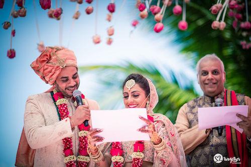 #pasha2019 | Beach wedding in Kenya | Paayal & Samir | Reading their wedding vows | Love