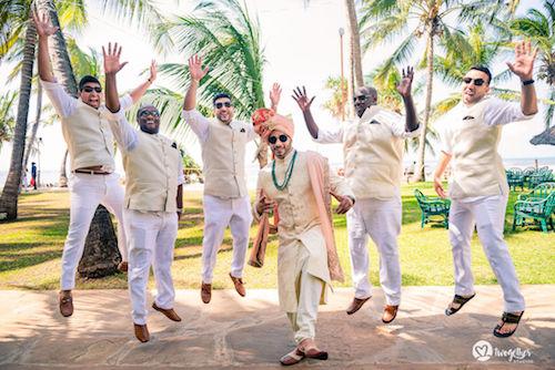 #pasha2019 | Beach wedding in Kenya | Samir with his groomsmen | Photoshoot | Destination weddings