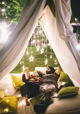 Tippy tents | Starts | Camping under stars | Romantic pre wedding shoot | Getting married | Groom to be | Bride To Be |