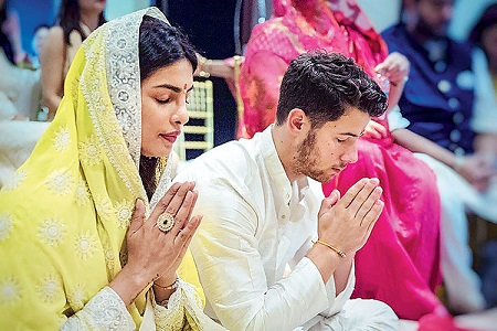 Priyanka Chopra and Nick jonas at their Roka Ceremony | Diwali Puja | 7 things to do for your First Diwali | Newlyweds