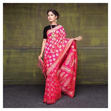 Beautiful Pink saree | Silk saree | Trending new saree ideas | Fashion fundas | Fashionista | Bride to be | Mother's saree | Trousseau