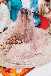 Pankhuri & Gobind | Anushree Reddy | Pastel pink Lehenga | Kaleere | Bridal inspiration