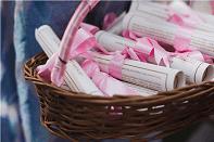 wedding itinerary | Pink ribbon bow | Pastel weddings | Dreamy punjabi weddings