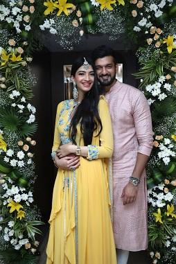 Hanna & Shahrukh   Yellow White and green flower decor   Floral arrangements   Indian bride  