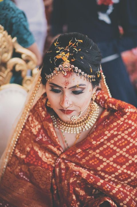 beautiful bride captured | stuti and mukuls wedding day