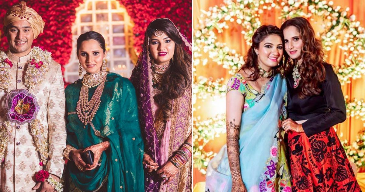 Anam Mirza wedding | Sania Mirza with sister and family and her wedding in hyderabad