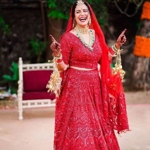 Red Bridal lehenga | Celebrity Wedding Trends of 2019