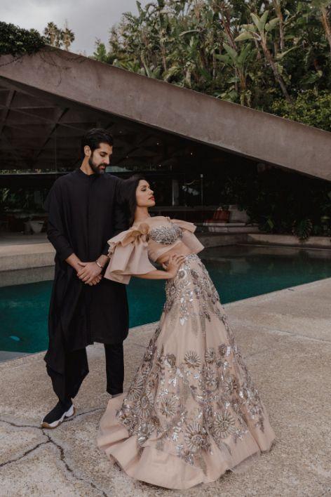 ankur and riya at their reception